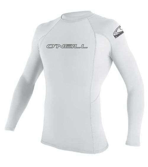 O'NEILL MENS RASH VEST.SKINS UPF50 LONG SLEEVE CREW WHITE GUARD T SHIRT TOP S20